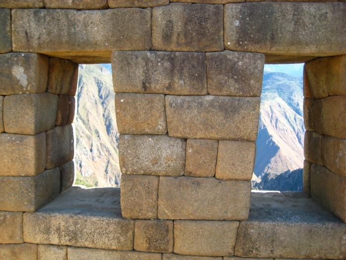 Inkan rocks at Machu Picchu