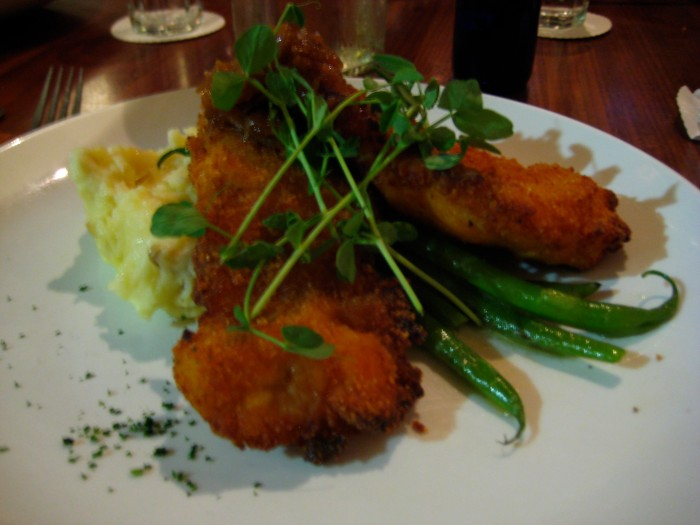 fried chicken at zelko bistro