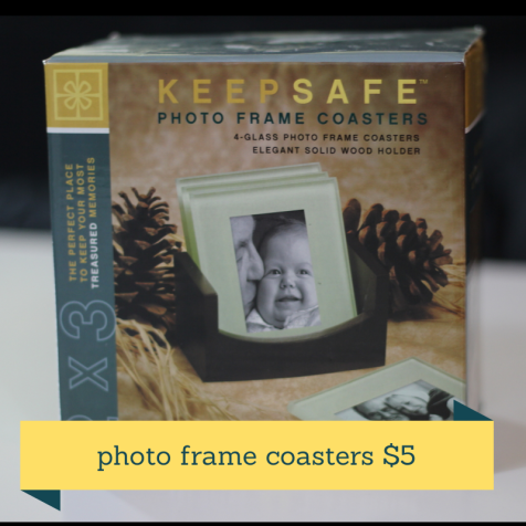 photo frame coasters